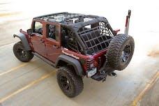 Rugged Ridge 13552.71 Cargo Net; Black; 07-17 Jeep Wrangler JK 4 Door
