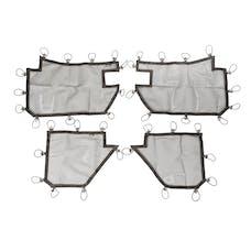 Rugged Ridge 13579.52 Tube Door Covers; Full Set; Black; 07-17 Jeep Wrangler JKU