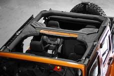 Rugged Ridge 13613.01 Roll Bar Cover; Polyester; 07-17 Jeep Wrangler JKU