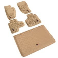 Rugged Ridge 13988.28 Floor Liners; Tan; Front/Rear/Cargo; 08-13 Jeep Liberty