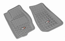 Rugged Ridge 14920.30 Floor Liners; Front; Gray; 07-12 Caliber/07-17 MK