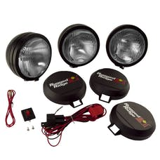 Rugged Ridge 15205.62 5 Inch Round HID Off Road Fog Light Kit; Black Steel Housing; Set of 3