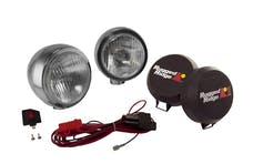 Rugged Ridge 15206.51 6 Inch Round HID Off Road Fog Light Kit; Stainless Steel Housing; Pair