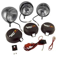 Rugged Ridge 15206.61 6 Inch Round HID Off Road Fog Light Kit; Stainless Steel Housing; Set