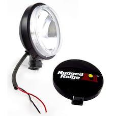 Rugged Ridge 15207.10 6 Inch Slim Halogen Light; Black Steel Housing