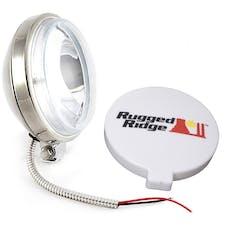 Rugged Ridge 15208.10 6 Inch Slim Halogen Fog Light Kit; Stainless Steel Housing