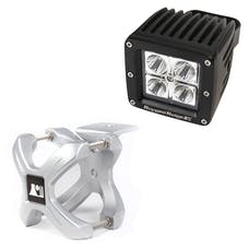 Rugged Ridge 15210.31 X-Clamp and Square LED Light Kit; Small; Silver; 1 Piece
