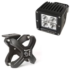 Rugged Ridge 15210.90 X-Clamp and Square LED Light Kit; Large; Textured Black; 1 Piece