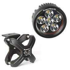 Rugged Ridge 15210.93 X-Clamp and Round LED Light Kit; Large; Textured Black; 1 Piece