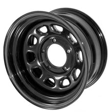 Rugged Ridge 15500.10 D Window Wheel; 15x8; Black; 5x5.5