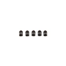 Rugged Ridge 16715.26 Aluminum Valve Stem Cap,  Black, 5 Pack