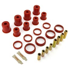 Rugged Ridge 18362.04 Rear Control Arm Bushing Kit; Red; 93-98 Jeep Grand Cherokee ZJ