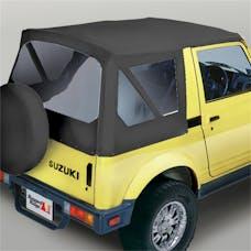 Rugged Ridge 53721.15 XHD Soft Top; Black Denim; Clear Windows; 81-98 Suzuki Samurai