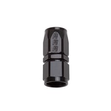 Russell 610055 Full Flow Hose End Straight -12AN All Black Finish