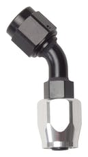 Russell 610093 Hose End -6 45° Black/Silver
