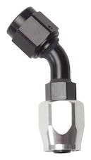 Russell 610103 Hose End -8 45° Black/Silver