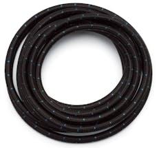 Russell 630283 #6 Black Cloth Hose. Blue Tracer  100fr length