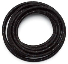 Russell 632073 #6 Black Cloth hose  Blue Tracer  10ft length