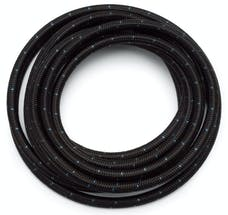 Russell 632243 # 12 Black Cloth Hose  Blue Tracer  20ft length