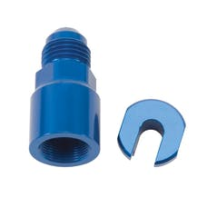 "Russell 644120 EFI Adapter Fitting -6 AN Male to 3/8"" SAE Quick-Disconnect Female Screw ty"