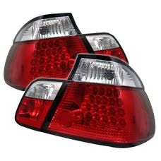 Spyder Auto 5000750 (Spyder) BMW E46 3-Series 99-01 4Dr LED Tail Lights-Red Clear