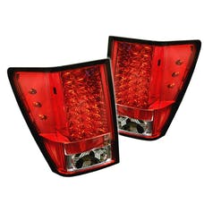 Spyder Auto 5005540 (Spyder) Jeep Grand Cherokee 05-06 LED Tail Lights-Red Clear