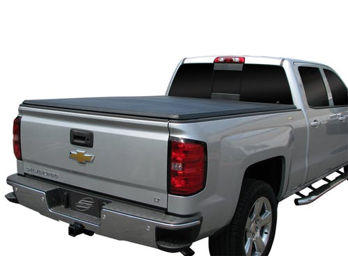 Steelcraft TN02201 Tri-Fold Tonneau Cover, Black