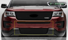 T-Rex Grilles 52664 Upper Class Bumper Grille, Black, Stainless Steel, 2 Pc, Overlay