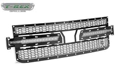 T-Rex Grilles 7711261 Laser X Grille, Black, Mild Steel, 1 Pc, Replacement
