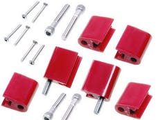 Taylor Cable Products 42726 Bracket Vertical 6/Pkg  Red