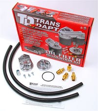 "Trans Dapt Performance 1127 Single Remote Oil Filter System; 2-1/2"" ID; 2-3/4"" OD Flange; 22mmX1.5 Thread"