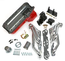 Trans Dapt Performance 99064 Chevy V8 into 2WD S10/S15 Engine Swap Kit; HTC COATED Headers- FACTORY Heads