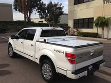 Truck Covers USA CRJR313WHITE Junior Size Toolbox and Hard Retractable Roll-up Tonneau Cover Combination