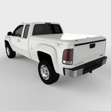 UnderCover UC1096L-50 LUX Tonneau Cover Olympic White/Summit White Paint Code GAZ/WA8624