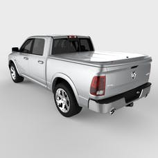 UnderCover UC3086L-PS2 LUX Tonneau Cover Bright Silver w/o Bed Rail Storage