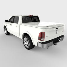 UnderCover UC3086L-PW7 LUX Tonneau Cover Bright White w/o Bed Rail Storage