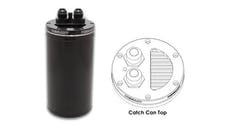 Vibrant Performance 12695 Catch Can with Integrated Filter, CNC Logo - Anodized Black