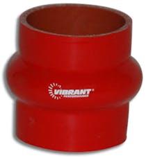 "Vibrant Performance 2734R 4 Ply Hump Hose, 3"" I.D. x 3"" Long - Red"