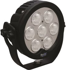 "Vision X 4009868 6"" Round Solstice Prime Black 7 10W LEDs 20° Narrow"