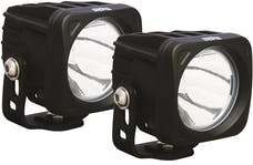 Vision X 9124421 OPTIMUS SQUARE BLACK 1 10W LED 10deg. NARROW KIT OF 2 LIGHTS