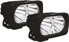 Vision X 9125053 OPTIMUS SQUARE BLACK 2 10W LEDS 10deg. NARROW KIT OF 2 LIGHTS