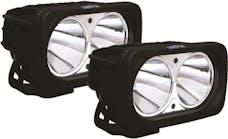 Vision X 9125053 OPTIMUS SQUARE BLACK 2 10W LEDS 10deg. NARROW KIT OF 2 LIGHTS