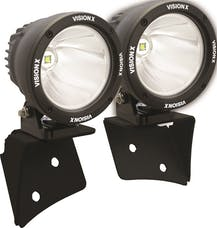 """Vision X 9888415 A Pillar Mount with 4.5"""" Cannon Set And Harness"""
