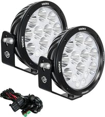 "Vision X 1238216 Pair 8.7"" Cannon Adventure Halo 14 LED Light Mixed Beam with Harness"