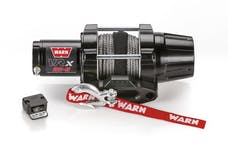 WARN 101020 VRX 25-S Synthetic Winch; Black
