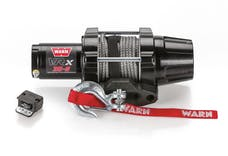 WARN 101030 VRX 35-S Synthetic Winch; Black