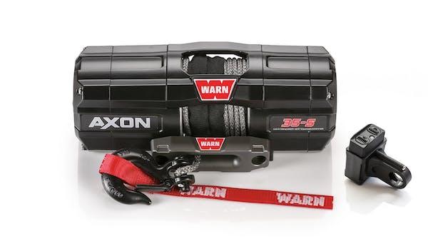 WARN 101130 AXON 35-S Synthetic Winch; Black