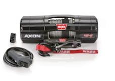 WARN 101140 AXON 45-S Synthetic Winch; Black