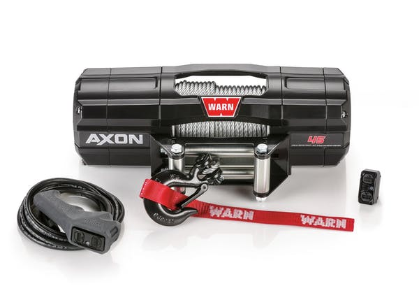 WARN 101145 AXON 45 Wire Rope Winch; Black
