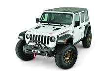 WARN 101330 Winch Ready Elite Series Front Stubby Bumper With Tubular Grille Guard